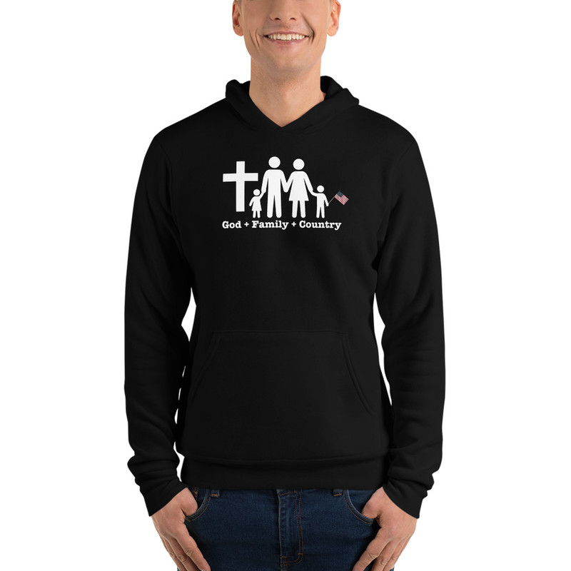 God, Family, Country Hoodie - S