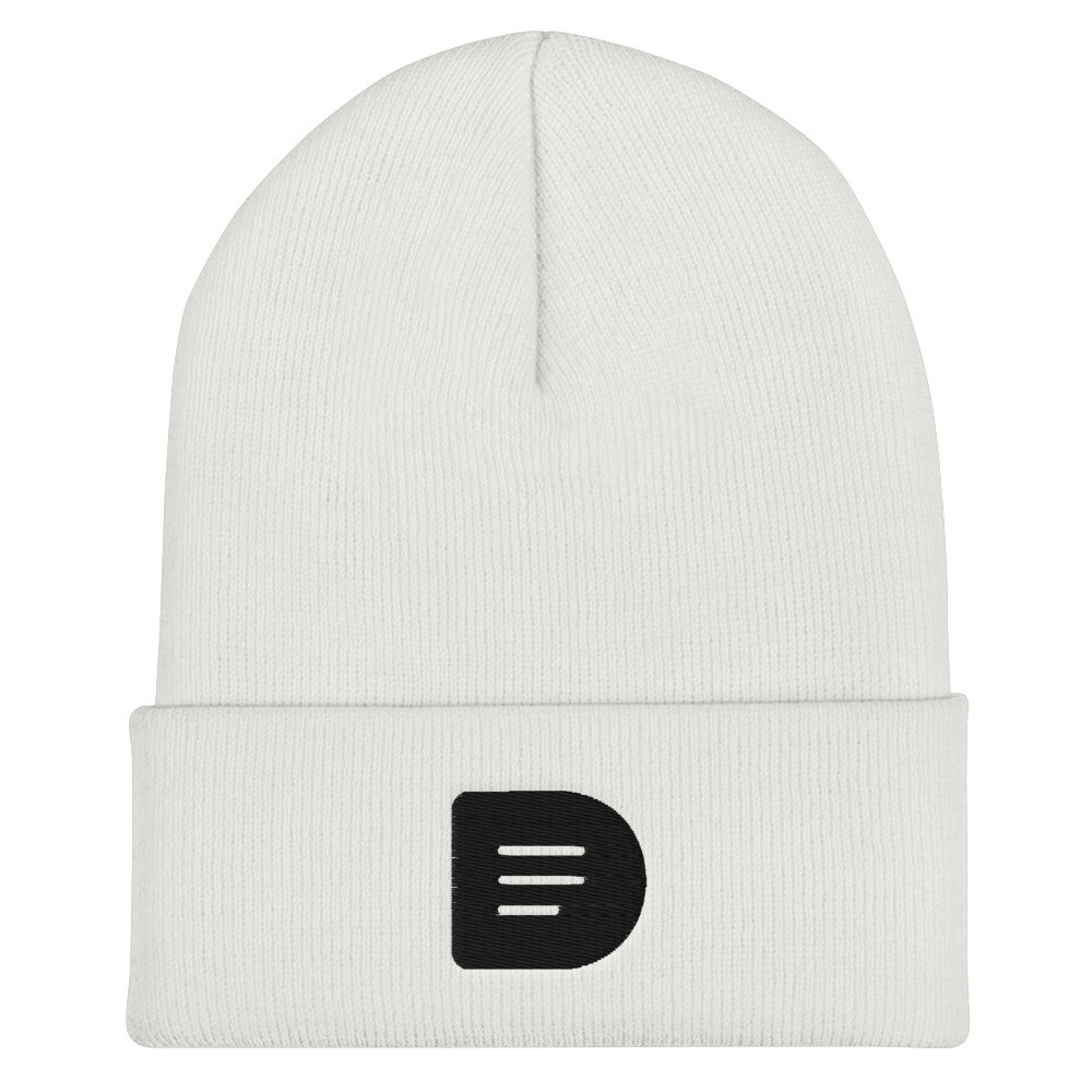 Dissenter D Logo - Beanie (Black on White)