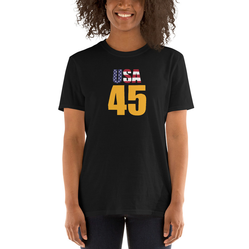 USA 45 Unisex T-Shirt - Black / L