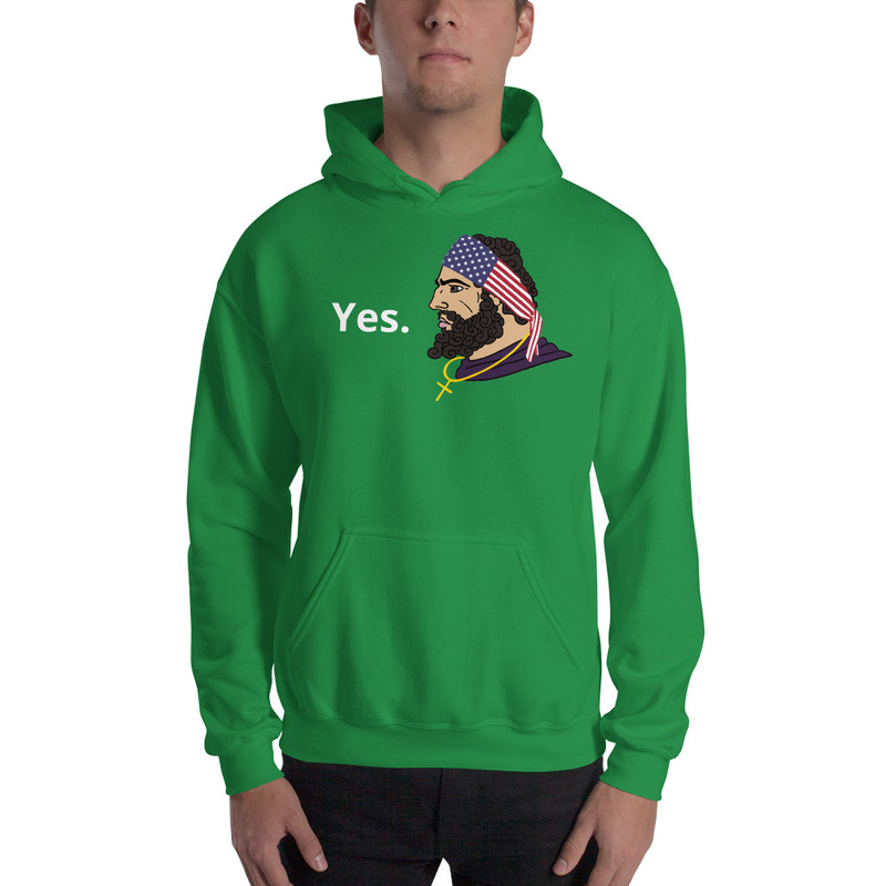 Yes. Unisex Hoodie - Irish Green / L