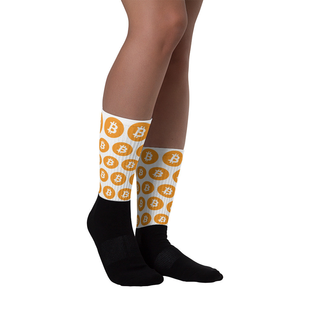 Bitcoin High Socks - L