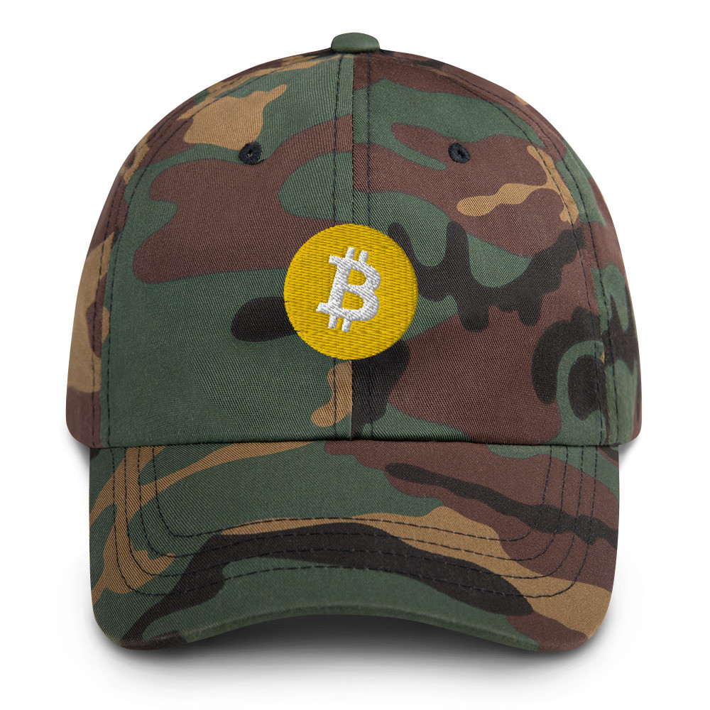 Bitcoin Dad Hat - Green Camo