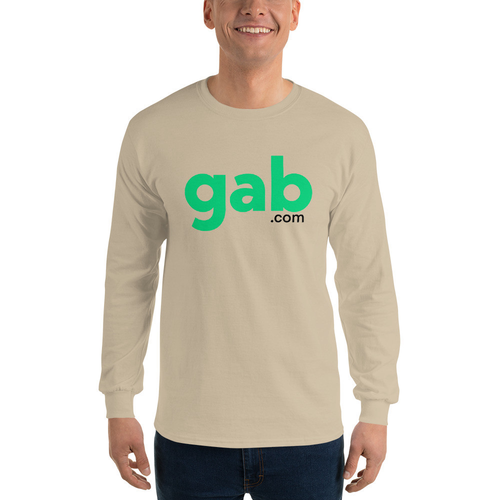 Men's Long Sleeve Gab.com Shirt - Sand / S