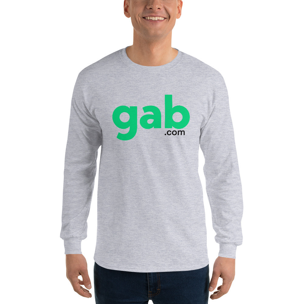 Men's Long Sleeve Gab.com Shirt - Sport Grey / S