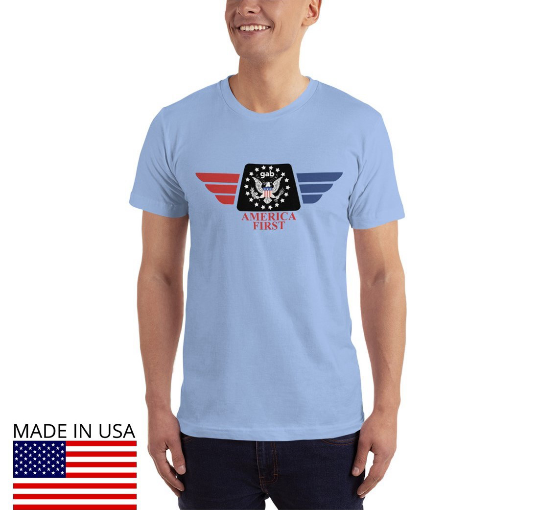 America First Men's T-Shirt - Baby Blue / S