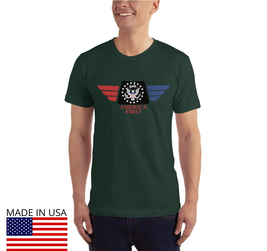America First Men's T-Shirt - Forest / M