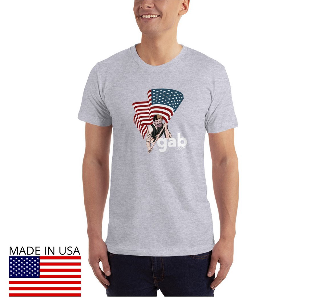 USA Flag Men's T-Shirt - Heather Grey / L
